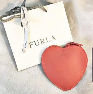 Furla Zip Around Heart Pouch